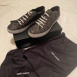 Men's Saint Laurent Glitter Low Top Sneaker